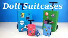 DIY Doll Luggage - Suitcases & Passport  - Doll Crafts