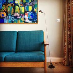 Artemide Firefly lamp with Hans Wegner sofa