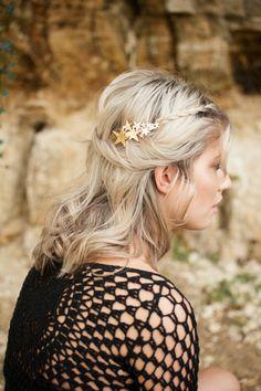 Star Hair Clip Gold Hair Barrette Boho Accessory Boho Hair