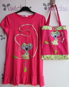 VÍSTELAS Sewing Appliques, Sewing For Kids, Embroidery Applique, Kids Wear, Baby Dress, Sewing Crafts, Kids Outfits, Sewing Patterns, How To Wear