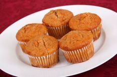 Karotten-Muffins mit Pecannüsse. Einfach mal ausprobieren.