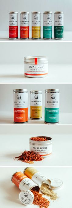 Qualicum Coffee & Tea packaging by Caribou Creative