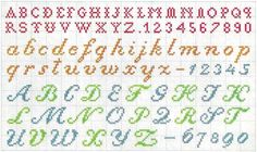 Vintange (1920) Alphabet for cross stitch and filet crochet.