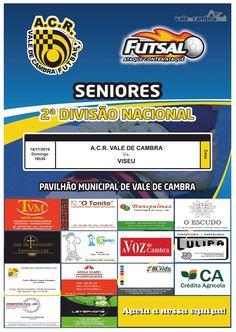 Futsal: ACR Vale de Cambra vs Viseu > 16 Nov 2014, 18h30 @ Pavilhão Municipal, Vale de Cambra  #ValeDeCambra #futsal