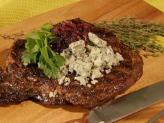 Grilled Ribeye Steak Video : Food Network