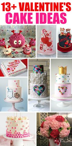 13+ Valentine's Cakes and Party Ideas - if you need inspiration or want to find the perfect cake for Valentine's Day - click on over! #valentines #love #pink #red, valentinescake #birthday #wedding #cakes