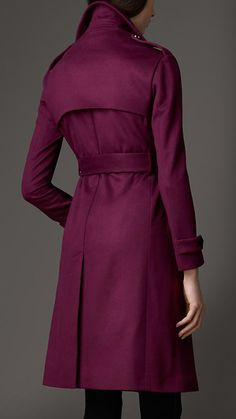 Long Double Cashmere Trench Coat   Burberry