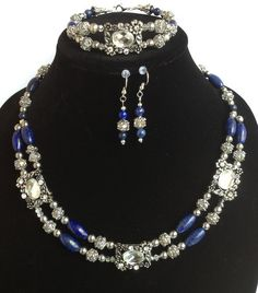 Magnificent Modern Couture Lapis Lazuli & by BranstoneMagicMaster, $140.00