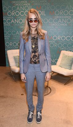 My Burberry star Cara Delevingne wearing Burberry tailoring at the Toronto International Film Festival