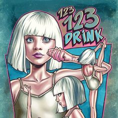 Ilustração inspirada no vídeo da música Chandelier, da cantora australiana Sia, no qual a jovem dançarina Maddie Ziegler apresenta uma coreografia elaborada e perturbadora.