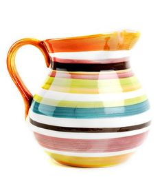 Omniware Stripe Rio Pitcher  by Fun & Functional: Bright Kitchenware on #zulily today!  I love this!!!!  It would go perfectly in my kitchen.