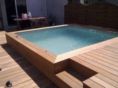 aménagement piscine hors sol carre