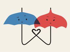 Blue Umbrella  by Joel Cook