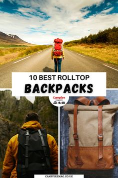 Are you looking for a new backpack? Here are the 10 BEST rolltop backpacks for hiking, camping, travel and other outdoor activities! This list of the top backpacks with rolltops share all the pros and cons to each to help you choose the best travel backpack for you! I camping backpacks I best outdoor backpacks I best hiking backpacks I backpacks for camping I backpacks for travel I outdoor gear I best bags I #backpacks #outdoorgear #bags Best Hiking Backpacks, Top Backpacks, Outdoor Backpacks, Best Hiking Gear, Hiking Tips, Best Travel Backpack, Van Camping, Camping Gear, Outdoor Activities