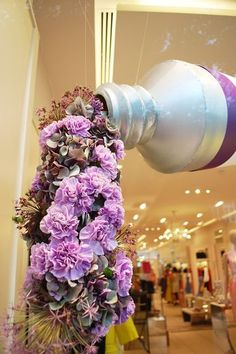 We love this floral and paint display.