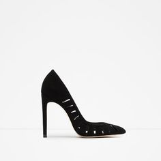 Image 1 of HIGH HEEL LEATHER SHOES from Zara