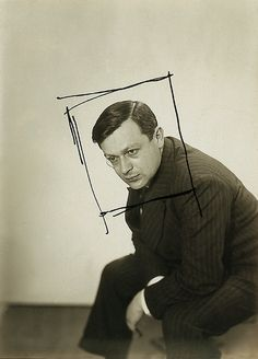 Tristan Tzara by Man Ray. I always love seeing Man Ray's crops. They were often very extreme, as seen in this example.