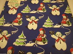 """Vintage Christmas Holiday Gift Wrap Wrapping Paper 4 sheets 30"""" x 20"""" Elite 