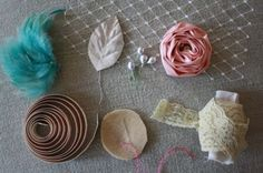How to Make Lace Headbands | How to Make a Fabric Flower Elastic Baby Headband With Feathers and ...