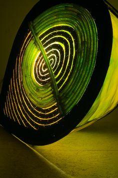 Light Sculptures by Raquel Cohen It Works, Wire Mesh, Labyrinths, Lights, Sculptures, Night