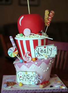 Candy Party!  Cute Cake