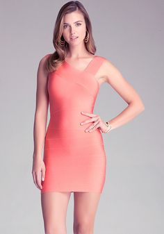 Asymmetric Straps Dress - All Dresses | bebe. USA system appropriate.