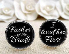 Custom Photo Father of the Bride Cuff Links Silver Photo Cuff Links Gifts for Dad Wedding Cufflinks Picture Cuff Link Fathers Day Keepsake