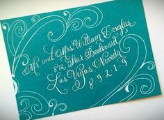 Recent Calligraphy: Envelope Artwork   Calligraphy by Jennifer