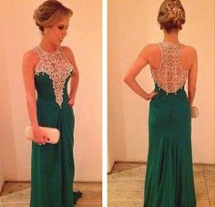 Ed405 Charming Prom Dress,Beading Prom Dress,Mermaid Prom Dress,Chiffon Prom Dress,Handmade Prom Dress