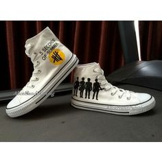 01e6fc4392 Converse shoes. Painted Converse5 Seconds Of SummerConverse ...