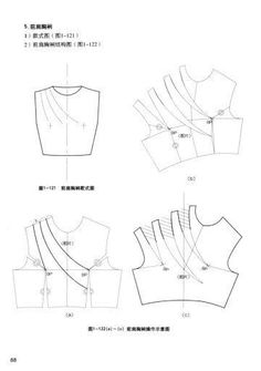 Collar Pattern, Jacket Pattern, Top Pattern, Draping Techniques, Sewing Techniques, Dress Sewing Patterns, Clothing Patterns, Pattern Draping, Patron Vintage
