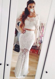 Lace Fish Tail Dress Set