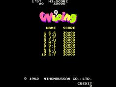 Wiping, Arcade,  Nichibutsu, 1982