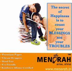 Visit www.menorah.in for vibrant back to school notebooks.
