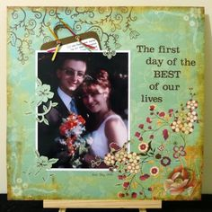Layout: Scrap Whispers #73 - The first day of the BEST of our lives  Love the title and pocket for the newspaper article