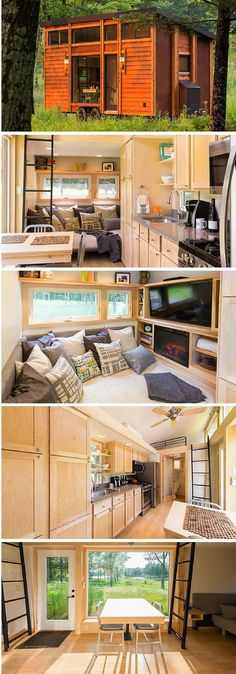 The Traveler tiny home from ESCAPE Homes. Measures 180 sq ft.