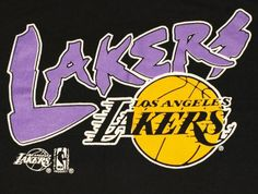Vintage 1990's LA Lakers Basketball T-shirt. Excellent pre-owned condition.