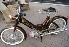 Puch Moped, Moped Motorcycle, Peugeot, Electric Trike, Mini Bike, Bicycle Design, Custom Bikes, Vehicles, Art
