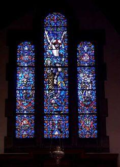 Willet Studios windows: The Nativity, The Crucifixion, The Resurrection. Chancel - Calvary Episcopal Church  20 Milton Street, Williamsville, NY
