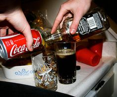jack & coke, yum.   could really use some of this right now