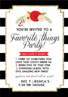 1000 ideas about favorite things party on pinterest for Fun things to do for christmas party