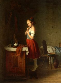 (Part II) The New Baby The Honey Eater Little Brother Sleeps Sunday Best Girl Knitting By A Window Homely Peace Afternoon Amusements The Sleeping Child The Little Goat Herder Young Girl Standing In…