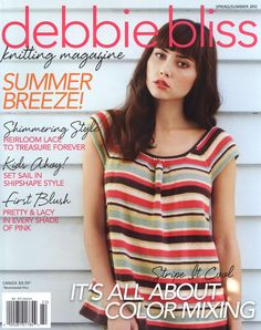 Debbie Bliss Knitting Magazine Spring-Summer 2012, one amazing cardigan and other adorable stuff