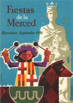 #Cartells #Franquisme #Festes_de_la_Mercè  #Barcelona Barcelona, Las Mercedes, Balearic Islands, Entertainment, Wall, Movie Posters, Vintage, Celebration, Vinyls