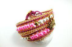 Das Wickelarmband - ein Hochzeitsgeschenk für meine beste Freundin. Königlich und individuell...wie meine Freundin selbst.