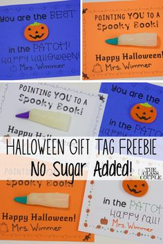 Does your school have a no food or candy policy? These Halloween Gift Tags are a fun and creative way to treat your students! Halloween Tags, Halloween Books, Halloween Activities, Halloween Ideas, Kindergarten Activities, Preschool Ideas, Teaching Ideas, All About Me Activities, Thing 1