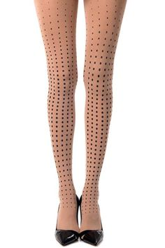 Jazz up your look with this pair of polka dot Tights by Zohara. These patterned tights feature a black polka dot Print on a classic one-size Nude opaque tights Polka Dot Tights, Patterned Tights, Opaque Tights, Black Tights, Polka Dot Print, Polka Dots, Fashion Pants, Women's Leggings, Hosiery