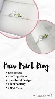 Handmade to order in sterling silver. The open band style means the ring is slightly adjustable :)