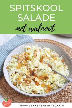 Zomer/ BBQ recepten Pointed cabbage salad with feta. A tasty and fresh salad. Food Bowl, A Food, Good Food, Easy Healthy Recipes, Vegetarian Recipes, Lunch Restaurants, I Want Food, Superfood Salad, Barbecue