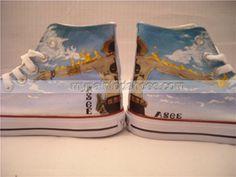 Anime one piece anime #Ace Shoes Custom painted shoes